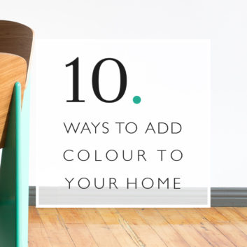 10 Ways To Add Colour To Your Home thumbnail