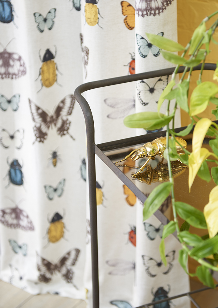 Colourful bug and beetle curtains
