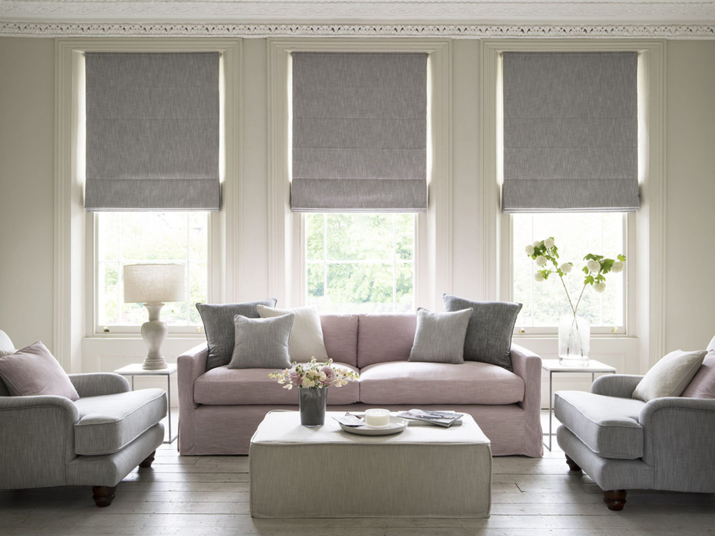 living room blinds interior design
