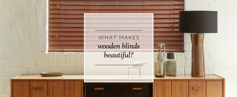 What makes wooden blinds beautiful? thumbnail