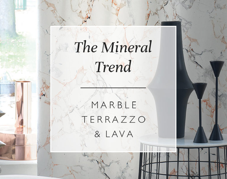 The Mineral Trend: Marble, Terrazzo & Lava