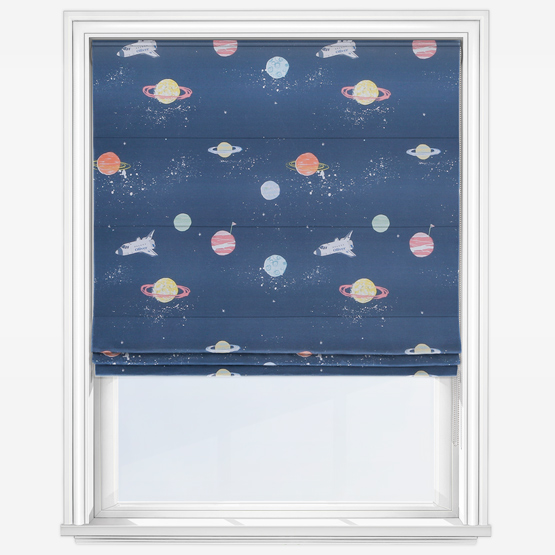 Personalised Outer Space Roman Blind