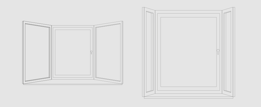 Bay window illustrations for measuring
