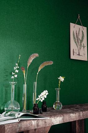 Forest green interior design.