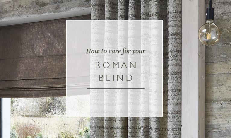 How to care for your Roman blind